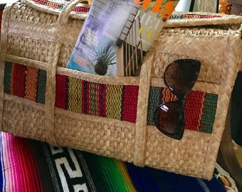 Vintage straw tote/handbag * price reduced!