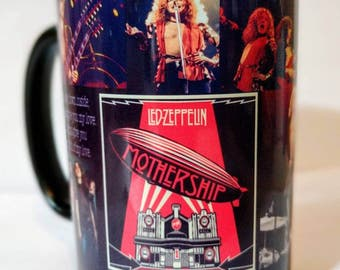 Led zeppelin 15oz black coffee mug