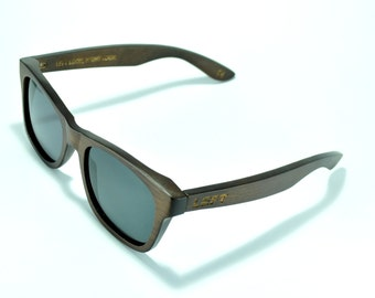 Wood Sunglasses – Polarized Gray lens Hand Made From Real Wood Stainless Steal, 100% Polarization