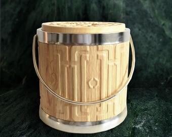 Italian Faux-Wood Retro Ice Bucket