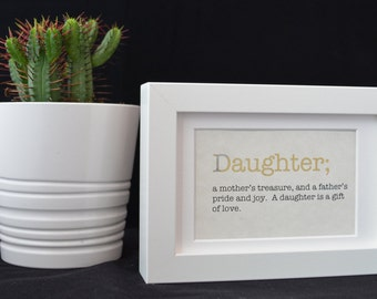 Urban Dictionary Wall Art / Daughter Definition / Dictionary Art / Funny Definition / Word Art