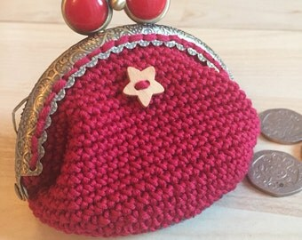 Handmade coin purse, gift for her, gift for child, coin purse, change purse, small purse.