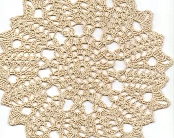 Antique Crochet Lace Doily Crochet Lace Vintage Doilies Crocheted Lacy Decor Textile Art Modern Rustic Interior Design Vintage Look Brown