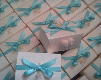 Wedding favor box with heart