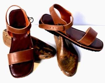 sandal //leather sandal //handmade sandal // beef skin sandal.