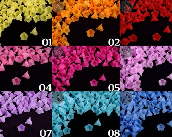 20 Acrylic flower 14 mm in many different colors frosted / / flowers / floral / jewelry / plastic / acrylic flower jewelry