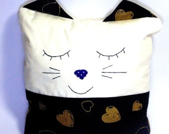Cat pillow Cute pillow Plushie animal toy Cat decor for baby