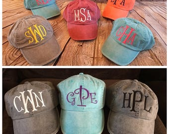 Women Monogrammed cap, women monogram hat, baseball cap, monogram cap, hat, low profile hat, personalized hat, monogram hat, womens hat