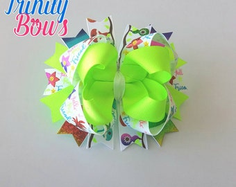 Hello Friend - Twisted Boutique - TBB - Large bow - Rainbow - Neon Green - USDR