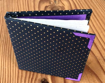 Mini Handmade Journal/ Notebook (Green or Purple Accents)