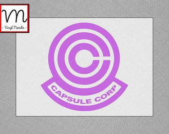 Dragonball Z Capsule Corp Symbol - Permanent Vinyl Decal/Sticker