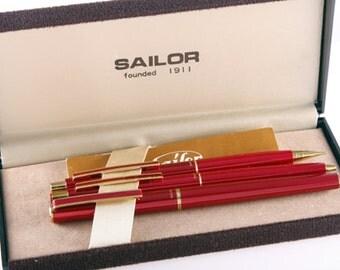 Sailor Pen Company Chalana set 1970s