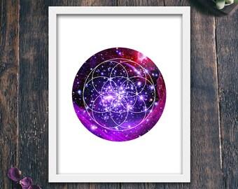 Minimalist Print, Geometric Star PRINTABLE, Modern Print, Simple Print, Milky Way Wall Art, Modern Poster, Stars Wall Art (#12338c)