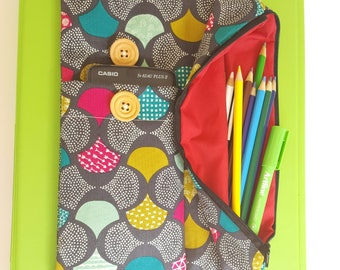Stylish and unique pencil case for folders. Ideal for high school and college students. Gorgeous outer fabrics and beautifully lined.