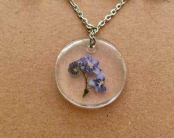 Forget Me Not Necklace, Forget Me Not Jewellery, Forget Me Not