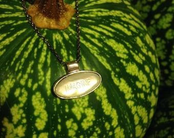 Mother of pearl Sterling IMAGINE necklace John Lennon