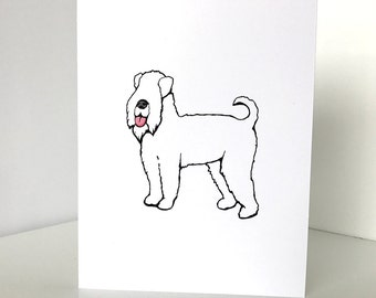 Soft Coated Wheaten Terrier blank note cards