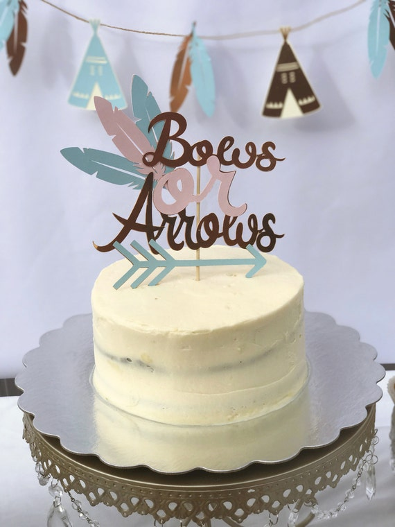 Bow And Arrow Cake Decorations