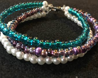 Triple Strand Multicolor Bracelet