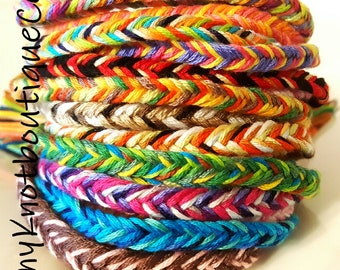 Fishtail Braid friendship bracelets NEW! Handmade!