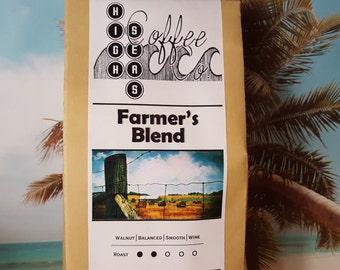 Coffee Beans, Farmers Blend, Fresh Roasted