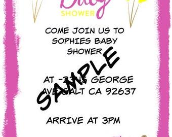 Invitations baby shower