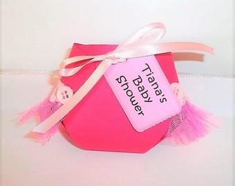 Pink Diaper Favors , Baby Shower Favors, Diaper favors, Set of 10