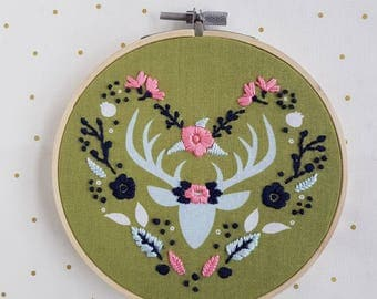 Deer Embroidery Hoop