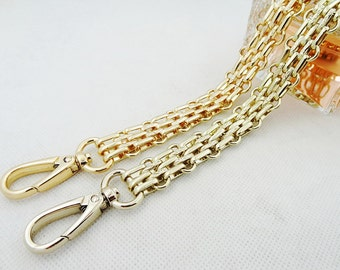 16mm Gold Light GoldChain Strap purse strap handles bag hadnbag Purse Replacement Chains Purse  Finished Chain straps High Quality