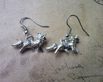 Fox earrings ~ silver ~