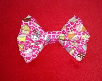 Homemade Pink Cupcake hair bow