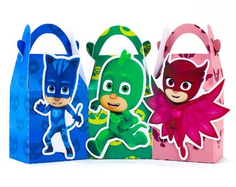 Pj masks favor box, Pj masks candy box, Pj masks goody bag, Pj masks treat bag, Pj masks cupcake box, Pj masks treat box, pj masks boxes
