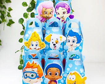Bubble guppies favor box, Bubble guppies candy box, Bubble guppies treat box, Bubble guppies Goody box, Bubble guppies Favor bag