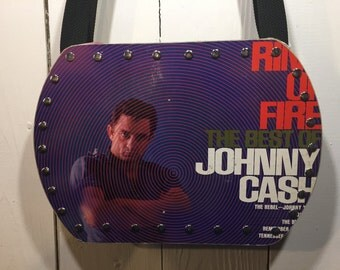 Johnny Cash - Ring of Fire vinyl record purse