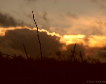 Digital Download of photographed Sunset -Taken in the Yorkshire Dales, England-