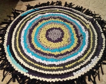 Crocheted rug rag
