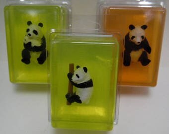 Kids Critter Soap - Bunny - Panda + Penguin - glycerin - toy in soap - kids gift - birthday - christmas - stocking stuffer