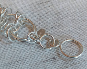 Sterling silver bracelet incredibly confusing pattern