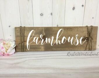 Farmhouse Decor // Farmhouse Sign // Home Decor // Rustic Decor // Wood Sign