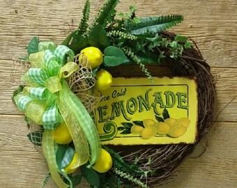 Lemonade Grapevine Wreath