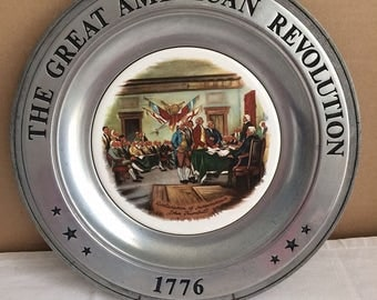The Great American Revolution 1776 Plate