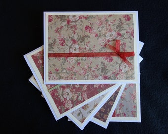 Romantic Floral Note Card Set, Blank