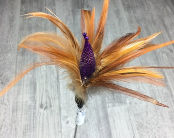 Cat toy   Jester & feathers cat teaser toy   Bell cat toy   Natural feathers cat toy   Quality cat toy
