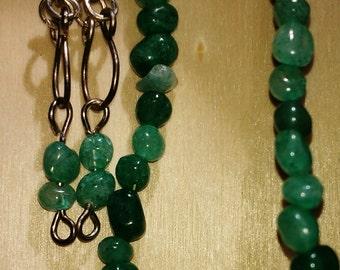 Aventurine bracelet and earrings