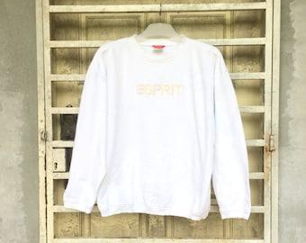 On Sale  ESPRIT Sweatshirt Pullover Embroidered Logo