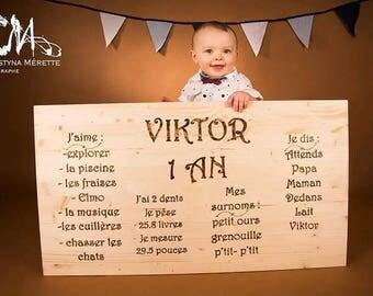 Birthday panel perfect for birthday/panneau de fete/ decoration