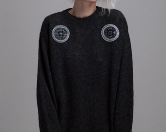 Noszone Clothing, Oversized blouse, black, S/M/L/XL/XXL, fair-trade, handmade
