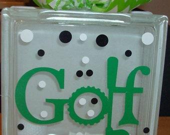 Golf Lighted glass block