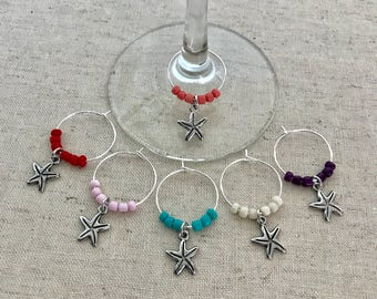 Starfish Wine Charms