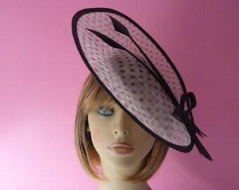 Black cream fascinator  - Wedding -  Mother of the Bride - Ascot - Races - black - cream - hat - wedding fascinator  - hatinator - headpiece